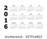 calendar on 2016 year on french ... | Shutterstock . vector #337916822