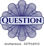 question abstract rosette | Shutterstock .eps vector #337916915