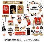 christmas hand drawn design... | Shutterstock .eps vector #337930058