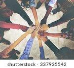 group of diverse multiethnic... | Shutterstock . vector #337935542