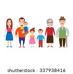 happy big family on white... | Shutterstock .eps vector #337938416
