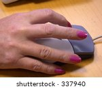 female using a mouse | Shutterstock . vector #337940