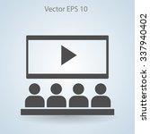 cinema vector icon | Shutterstock .eps vector #337940402