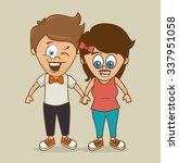 people cartoon graphic design ... | Shutterstock .eps vector #337951058