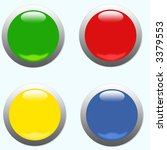 glossy round buttons | Shutterstock . vector #3379553