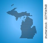 map of michigan | Shutterstock .eps vector #337956968