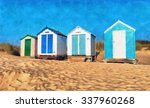 A Painting Of Colourful Beach...