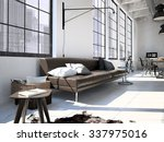contemporary workplace in a... | Shutterstock . vector #337975016