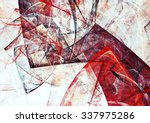 abstract red and white triangle ... | Shutterstock . vector #337975286