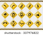 american traffic signs check my ... | Shutterstock .eps vector #337976822