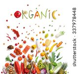 organic food choice   healthy... | Shutterstock . vector #337978448