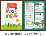 cute colorful kids meal menu... | Shutterstock .eps vector #337979942