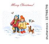 watercolor illustration of... | Shutterstock . vector #337988798