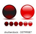 glass balls   Shutterstock .eps vector #33799087
