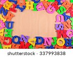 frame of plastic colorful... | Shutterstock . vector #337993838