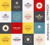 vintage frames  labels. hvac...   Shutterstock . vector #337994525