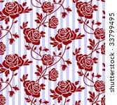 roses seamless pattern | Shutterstock .eps vector #33799495