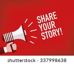 share your story    Shutterstock .eps vector #337998638