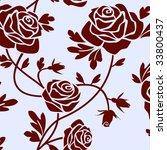 roses tile | Shutterstock .eps vector #33800437