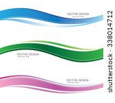 set of wavy banners with... | Shutterstock .eps vector #338014712