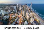 gold coast beautiful panorama... | Shutterstock . vector #338021606