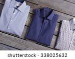 business classic men's shirts... | Shutterstock . vector #338025632