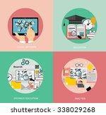 flat study backgrounds set.... | Shutterstock .eps vector #338029268