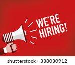 we're hiring    Shutterstock .eps vector #338030912