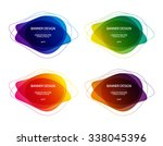 set of vector colorful round... | Shutterstock .eps vector #338045396