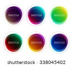 set of vector colorful round... | Shutterstock .eps vector #338045402