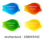 set of vector colorful round... | Shutterstock .eps vector #338045432