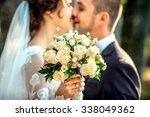 wedding photo. happy bride and... | Shutterstock . vector #338049362