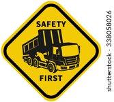 truck safety. driver...   Shutterstock .eps vector #338058026