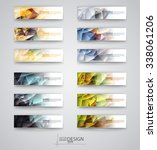 color banners set with... | Shutterstock .eps vector #338061206