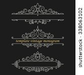 set luxury logos template... | Shutterstock .eps vector #338063102