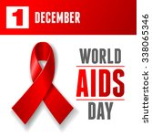 world aids day concept poster... | Shutterstock .eps vector #338065346