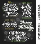 hand drawn calligraphic... | Shutterstock .eps vector #338065826