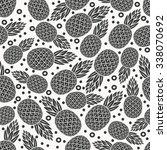 pineapple tropical fruit... | Shutterstock .eps vector #338070692