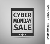 cyber monday tablet design... | Shutterstock .eps vector #338074628
