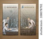 chemical vector card design... | Shutterstock .eps vector #338078702