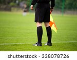 Small photo of soccer referee guardalinee arbiter assistant