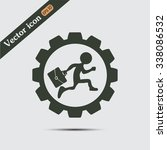 a man with a briefcase running... | Shutterstock .eps vector #338086532