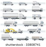 vector transportation icon set. ... | Shutterstock .eps vector #33808741