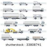 vector transportation icon set. ... | Shutterstock .eps vector #33808741