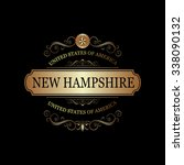 new hampshire usa state.vintage ... | Shutterstock .eps vector #338090132