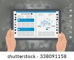 digital layout e magazine ... | Shutterstock .eps vector #338091158