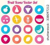 fruit icons vector set   eps10 | Shutterstock .eps vector #338097212