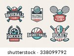 set of baseball  volleyball ... | Shutterstock .eps vector #338099792