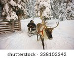 Winter Lapland Reindeer Sled...