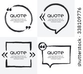vector set of quote forms... | Shutterstock .eps vector #338109776